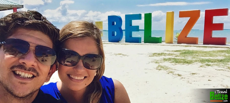 Take a Selfie at the Belize Sign – or a Footsie!