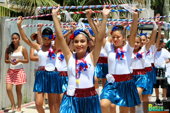 Independence Day Parade with Island Charm in San Pedro, Ambergris Caye