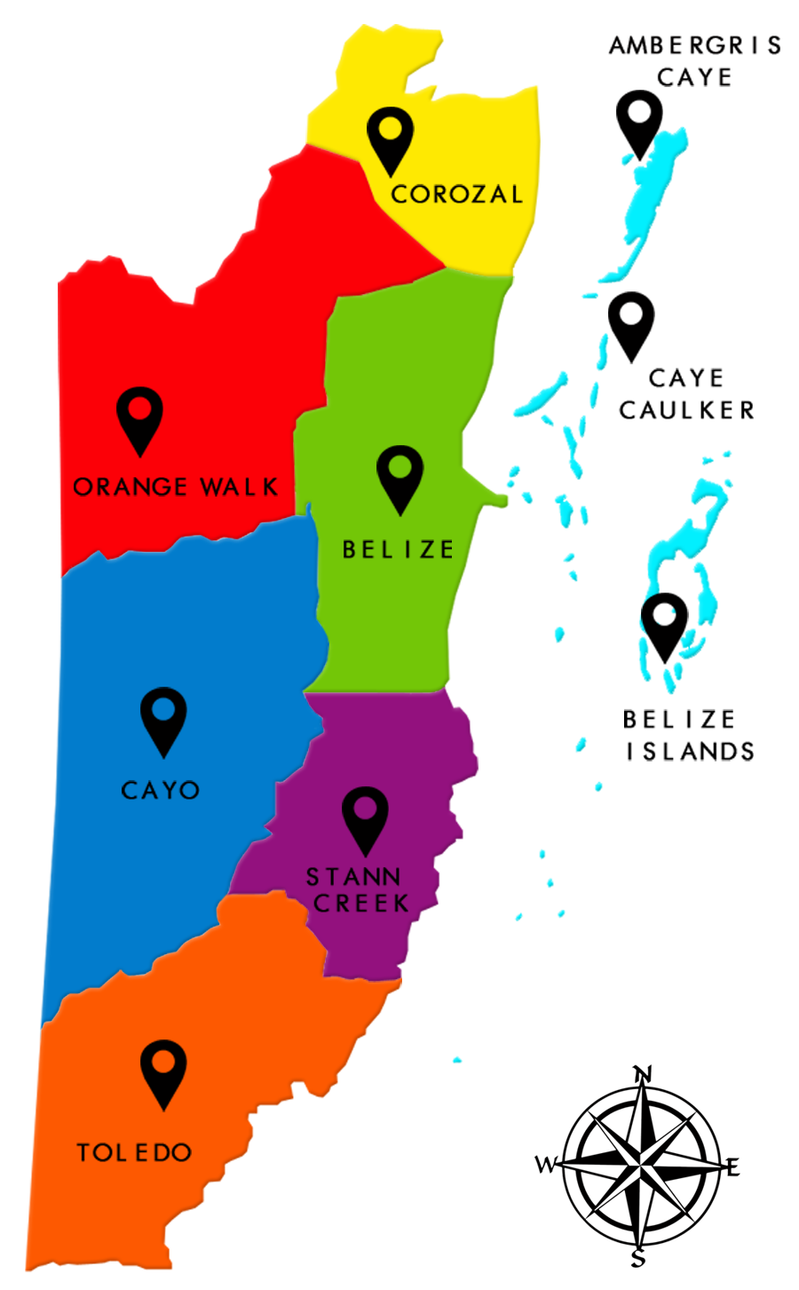 iTravel Belize Map