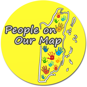 people on our map logo