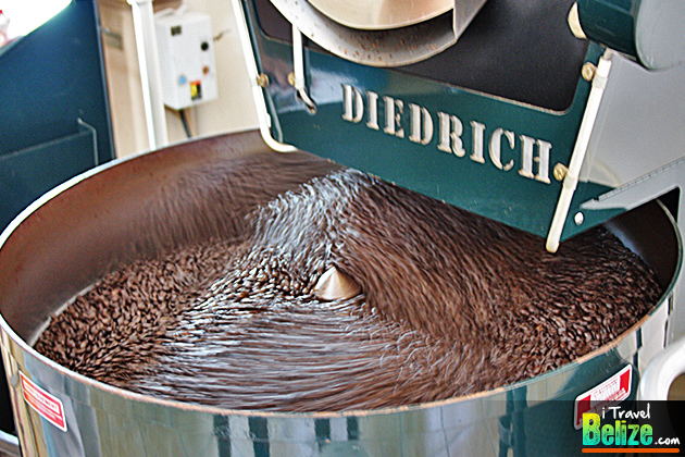 Coffee Beans in the cooling process