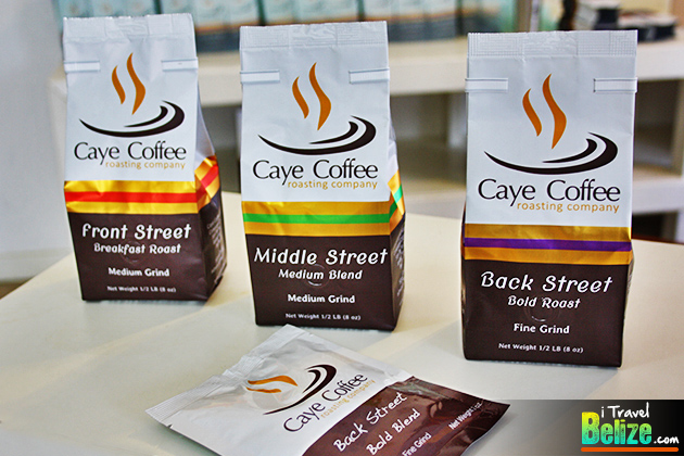 Caye Coffee roasts come in one pound (16oz) packages and in both ground and whole bean format. But they also have smaller half pound packages and individual servings packs (pictured above) that they provide to condos and hotels on the island
