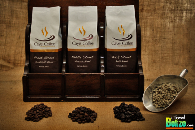 Caye Coffee's three different blends