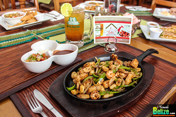 Seafood Fajitas served with Handmade Flour Tortillas, Pico de Gallo and Parmesan Cheese
