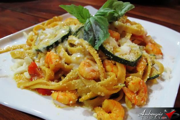 Shrimp Pasta - Italian Restaurant San Pedro Ambergris Caye Belize