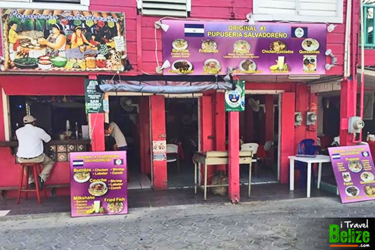 Pupuseria Salvadoreno is located on Pescador Drive (Middle Street) with Pupuseria Haiti located across the street. The very popular Waruguma Restaurant is the third popular pupuseria in town that recently relocated to a larger location on Angel Coral Street (Back Street)