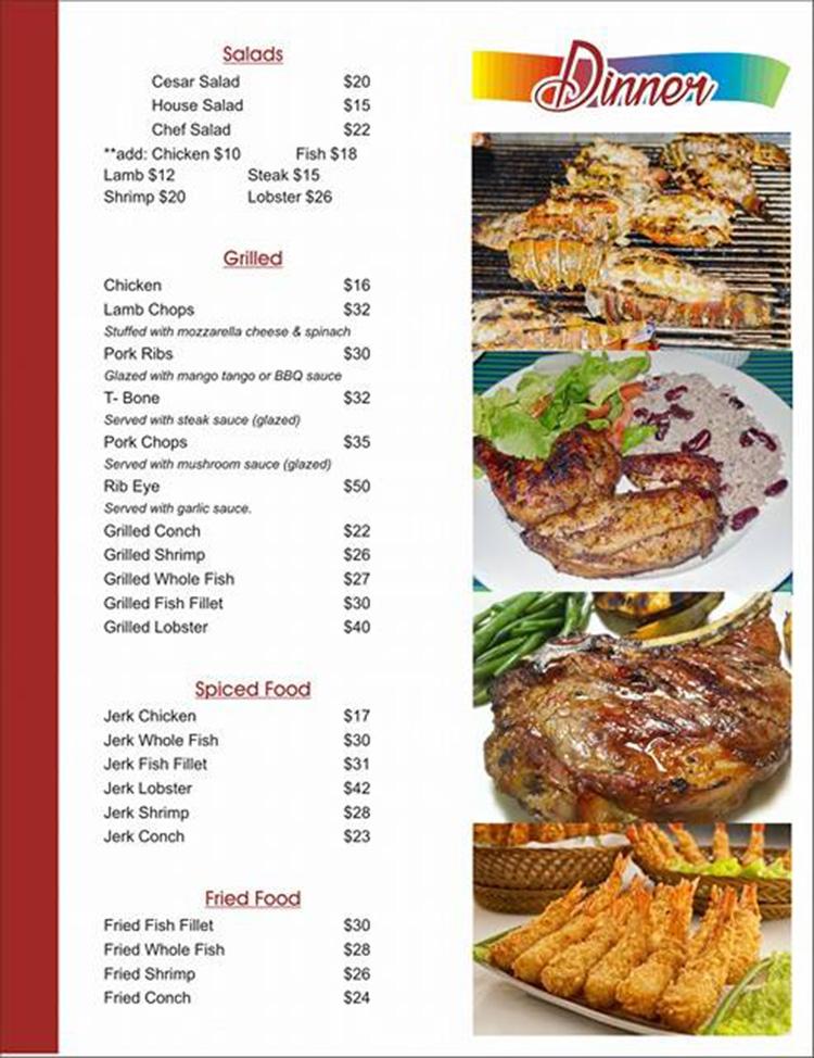 tropicana menu