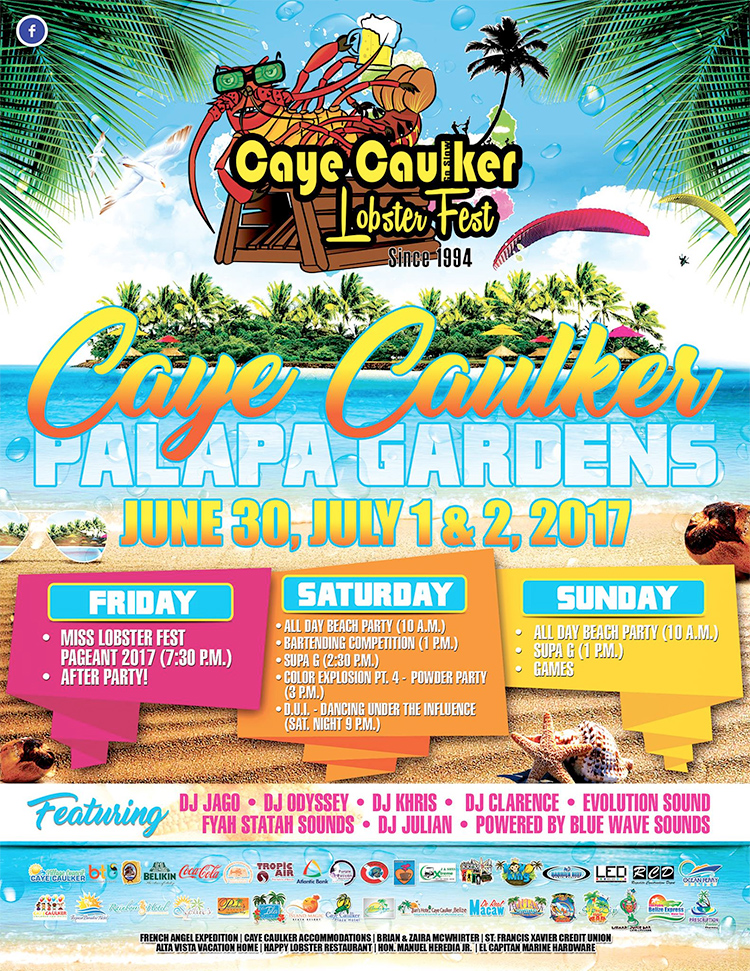 Lobster Fest Caye Caulker Schedule