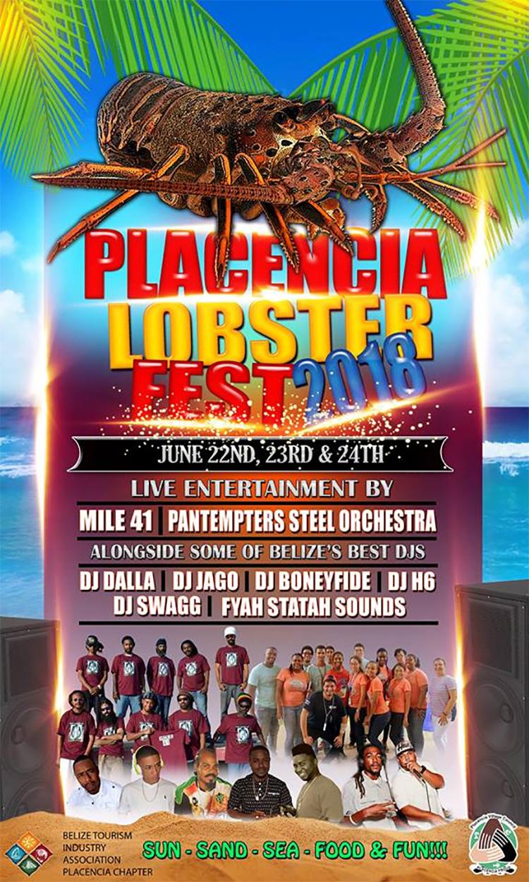 Placencia Lobster Fest Flyer