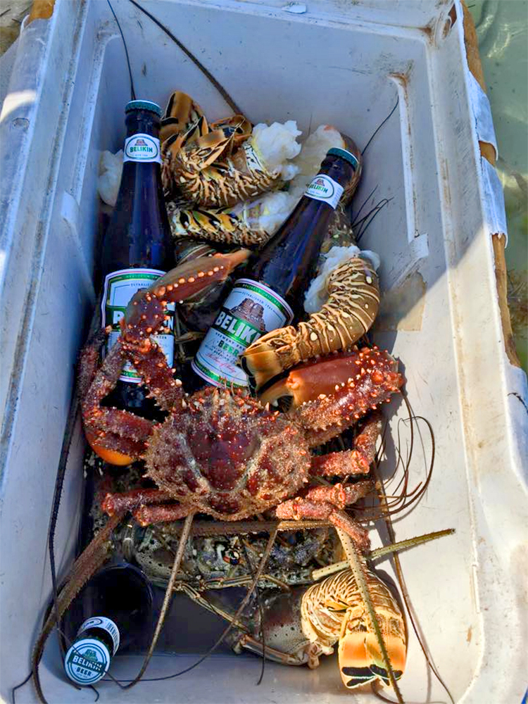 Looks like Luis Dominguez had a great time catching lobster