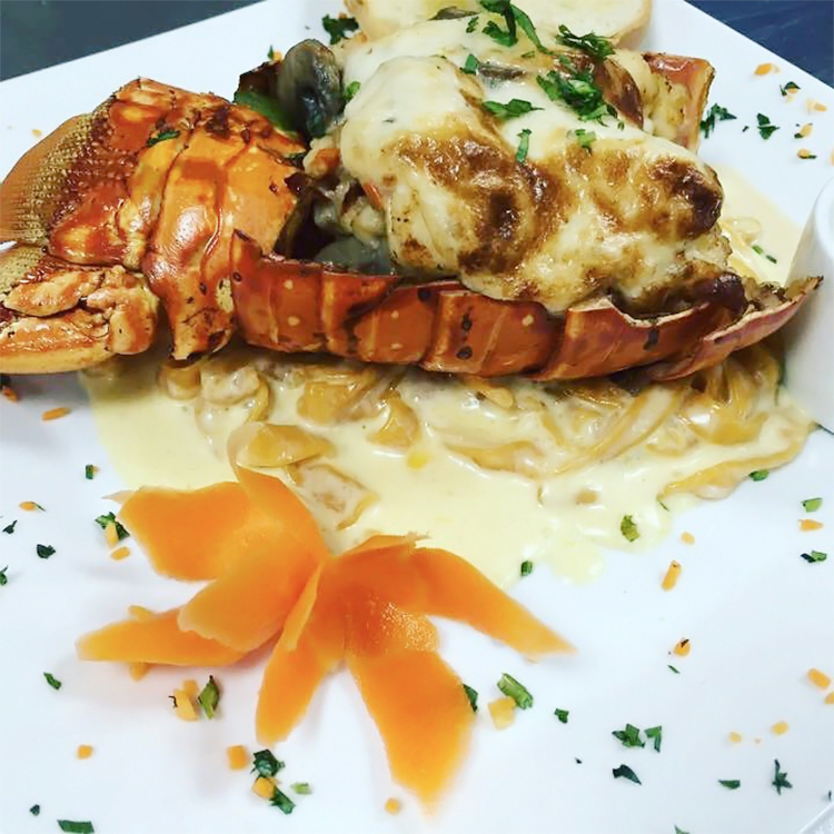 Victoria Meyer shared a pic of her lobster dish at Rain Rooftop Restaurant