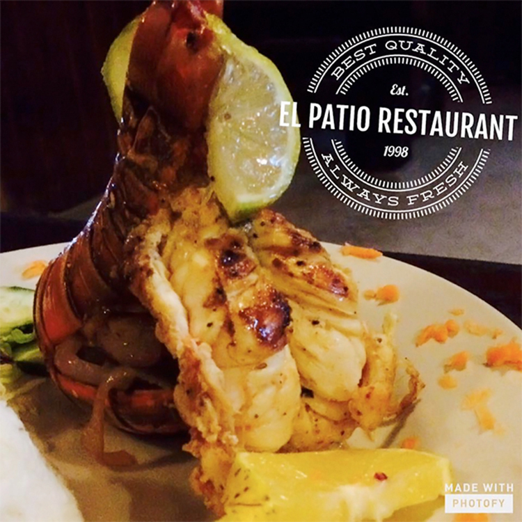 El Patio Restaurant entices us with this delicious-looking lobster tail