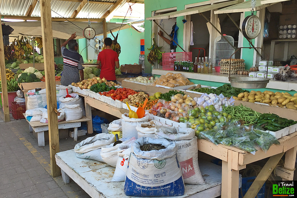 Shopping for fruits and vegetables at belize city market