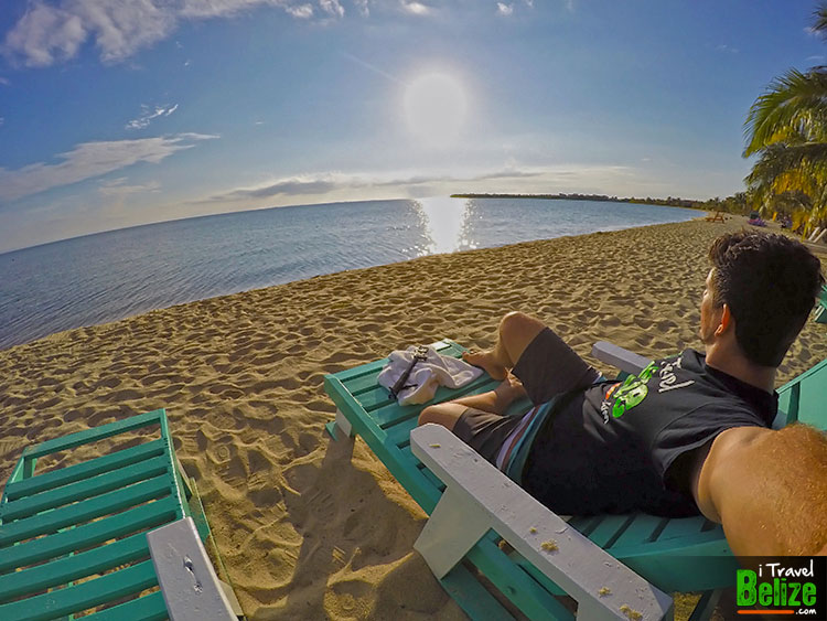 Relax on the beach in Placencia Village Stann Creek