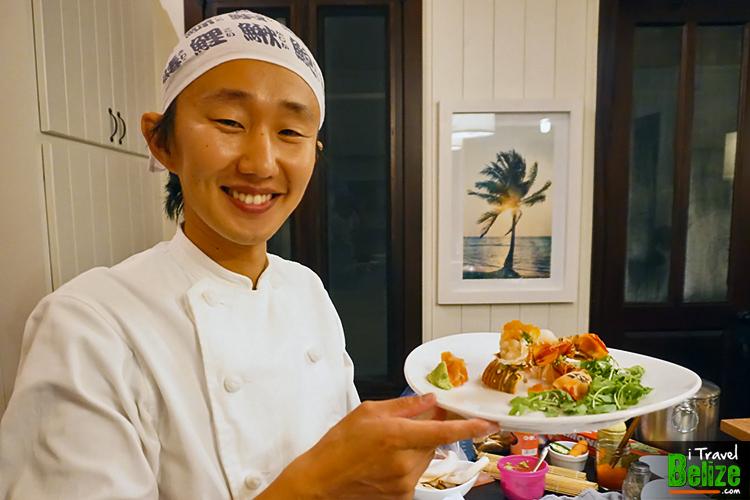 Lobster sashimi by Chef Toshiya Tsujimoto