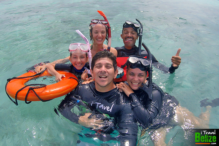 Madi's team at the Belize Barrier Reef