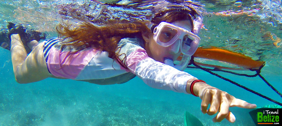 The Girl that Snorkeled the Belize Barrier Reef