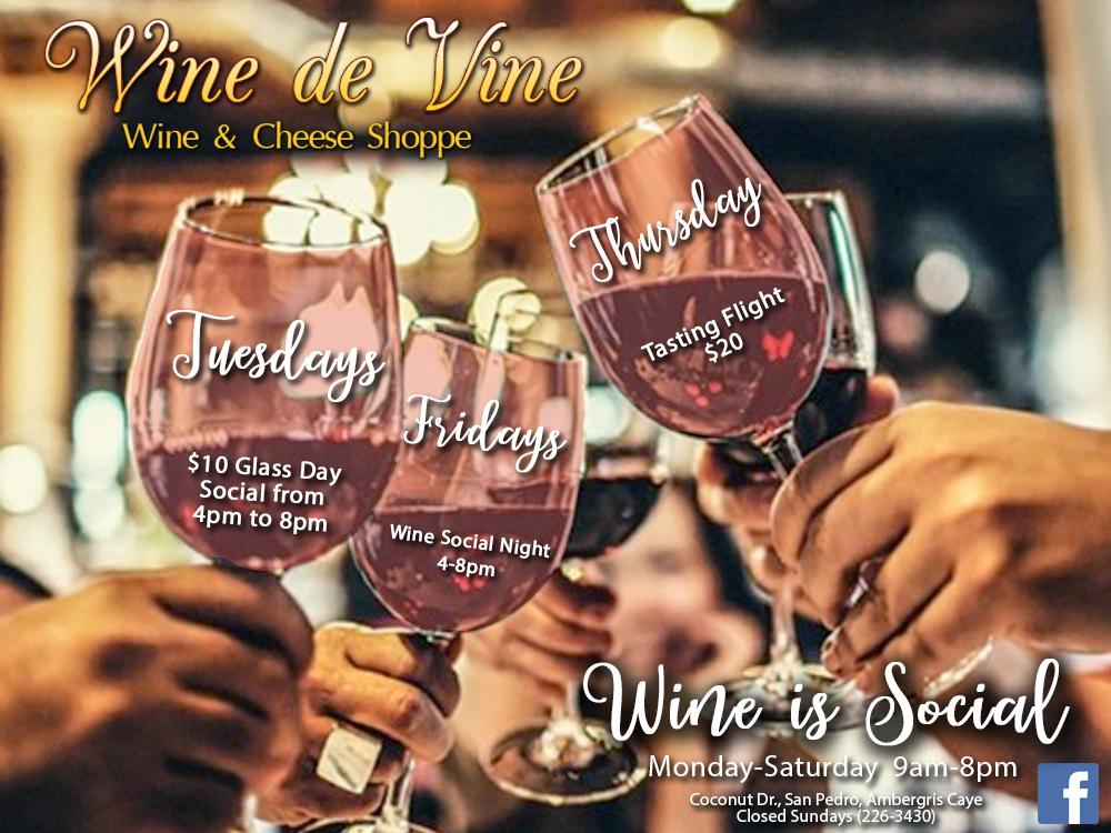 Wine de Vine Social Hours